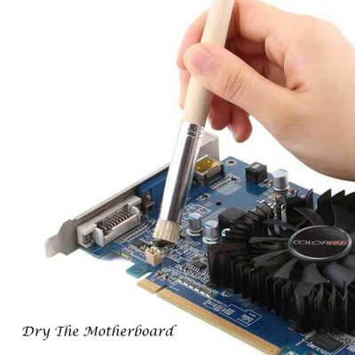 dry the motherboard